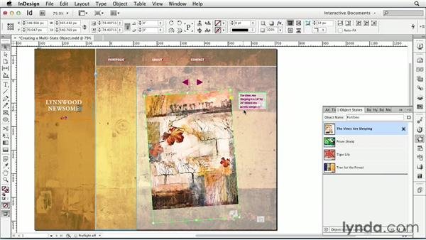Creating a multi-state object : InDesign CS6: Interactive Documents