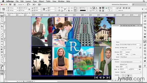 Animating an opening page : InDesign CS6: Interactive Documents