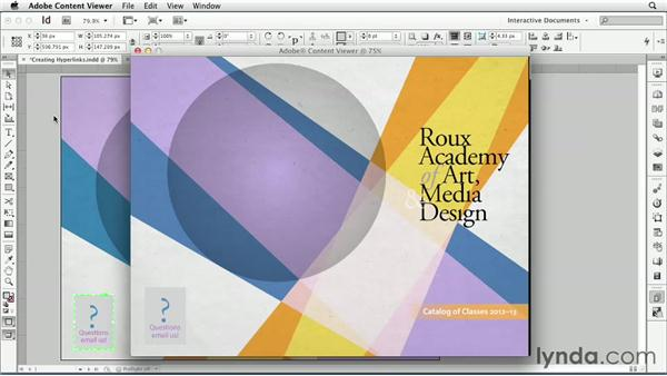 Creating hyperlinks: InDesign CS6: Interactive Documents