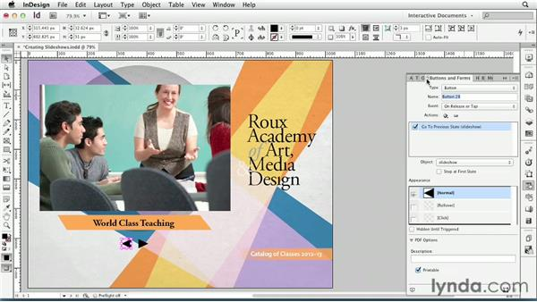 Creating slideshows: InDesign CS6: Interactive Documents