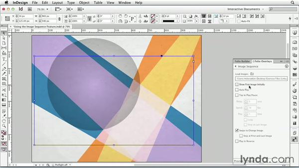 Using the Image Sequence feature: InDesign CS6: Interactive Documents