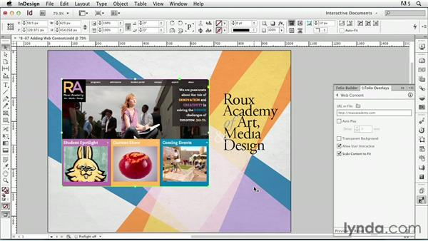 Adding web content: InDesign CS6: Interactive Documents