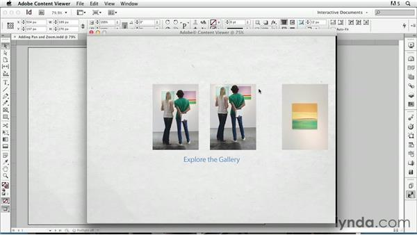 Panning and zooming: InDesign CS6: Interactive Documents
