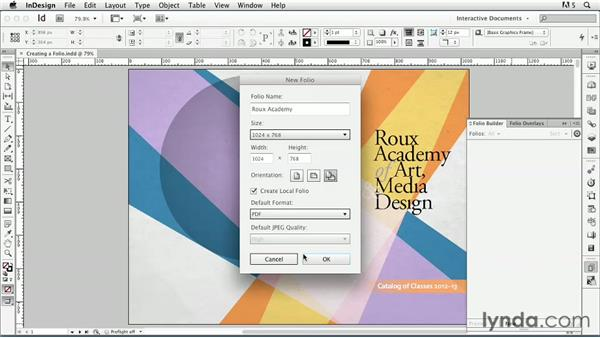 Creating a folio: InDesign CS6: Interactive Documents