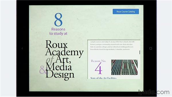 Viewing a folio on an iPad: InDesign CS6: Interactive Documents
