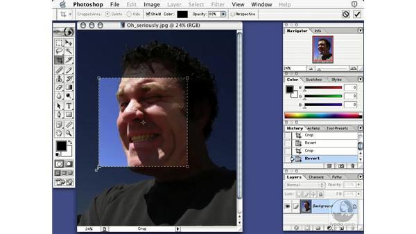resizing and cropping: Learning Photoshop 7