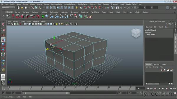 Editing polygonal components: Maya Essentials 2: Polygonal Modeling Techniques
