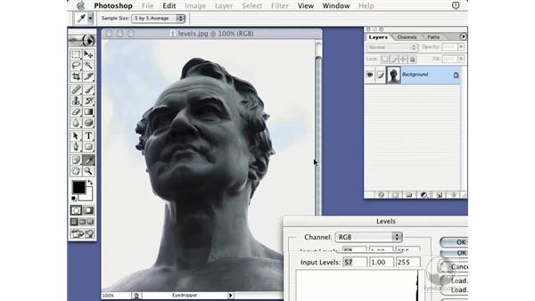levels adjustment: Learning Photoshop 7