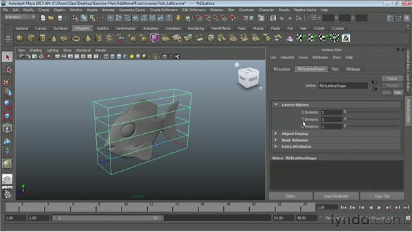Modeling with lattices : Maya Essentials 2: Polygonal Modeling Techniques