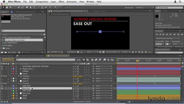 032 Using keyframe interpolation in After Effects to fine-tune movements: Design in Motion