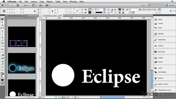 044 Backlighting an Object: InDesign FX