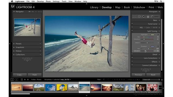 Advanced panel navigation: Lightroom Power Shortcuts