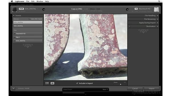 Importing images and videos: Lightroom Power Shortcuts