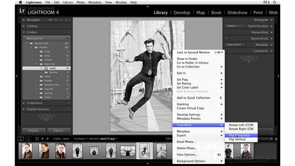 Rotating the image: Lightroom Power Shortcuts