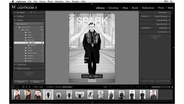 Creating a layout overlay: Lightroom Power Shortcuts