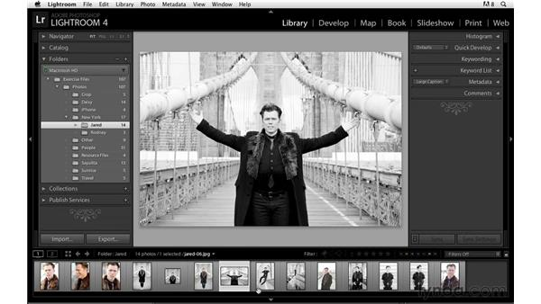 Finding and selecting images: Lightroom Power Shortcuts