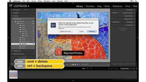Deleting images quickly with flags: Lightroom Power Shortcuts