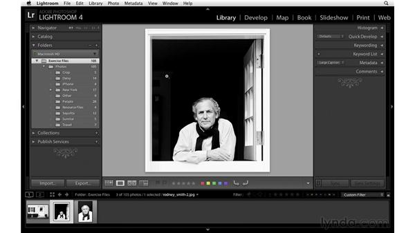Finding images quickly: Lightroom Power Shortcuts