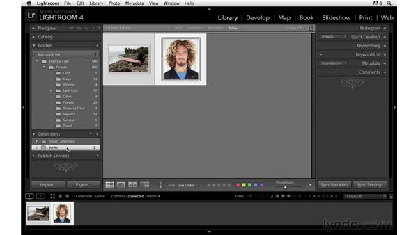 Working with collections and target collections: Lightroom Power Shortcuts