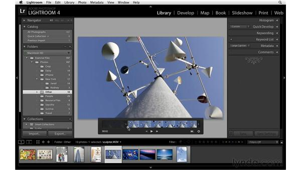 Setting in and out points: Lightroom Power Shortcuts