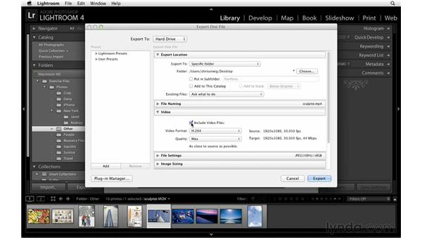 Exporting video: Lightroom Power Shortcuts
