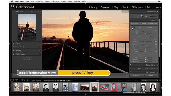 Correcting tone and white balance automatically: Lightroom Power Shortcuts