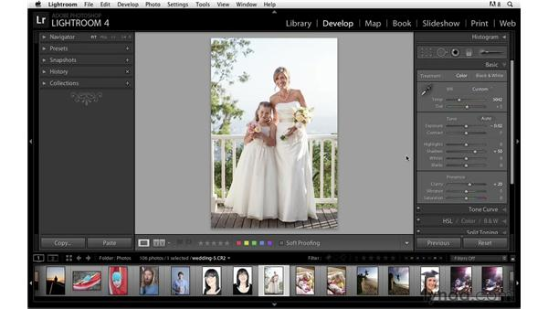 Making adjustments in the Basic panel: Lightroom Power Shortcuts