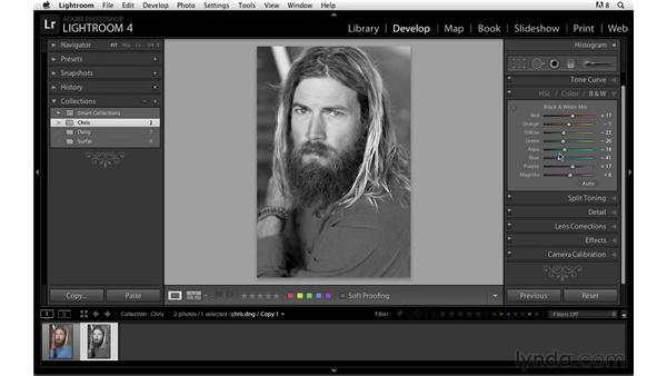Creating virtual copies: Lightroom Power Shortcuts