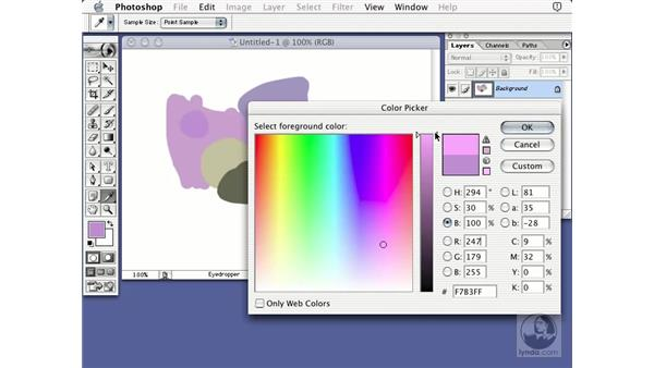 brightness color picker: Learning Photoshop 7