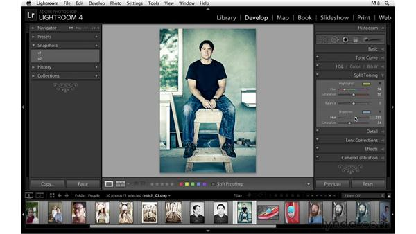Using Snapshots to save settings: Lightroom Power Shortcuts
