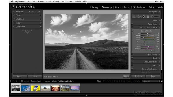 Creating strong black-and-white conversions: Lightroom Power Shortcuts