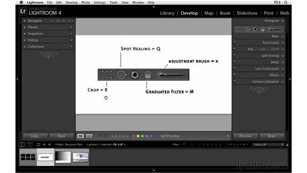 Exploring tool strip shortcuts: Lightroom Power Shortcuts