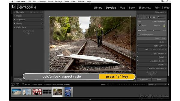 Changing the crop overlay: Lightroom Power Shortcuts