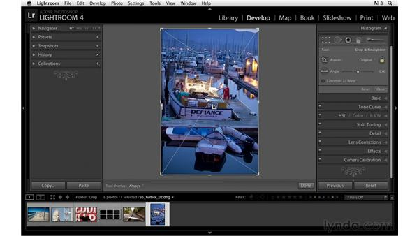 Switching the crop orientation: Lightroom Power Shortcuts