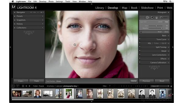 Retouching with the Spot Removal tool: Lightroom Power Shortcuts
