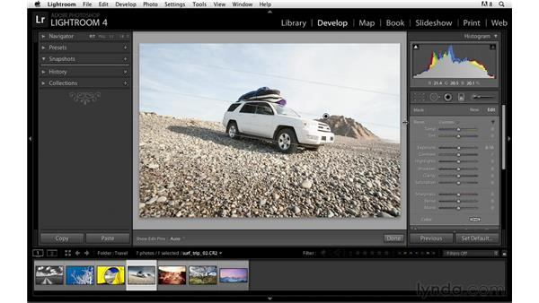 Using the Graduated Filter: Lightroom Power Shortcuts