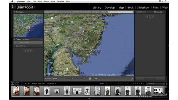 Zooming in on the map and changing the map style: Lightroom Power Shortcuts