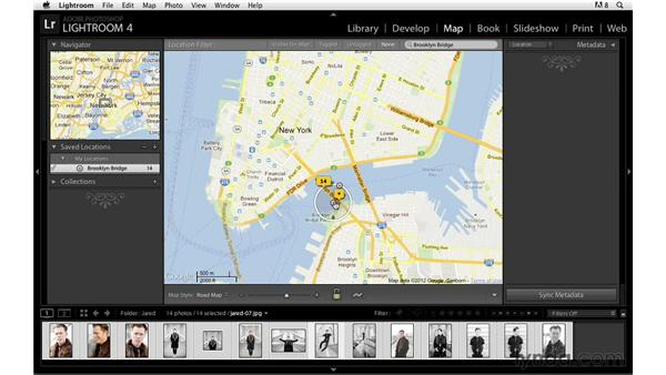 Finding a location and adding images: Lightroom Power Shortcuts