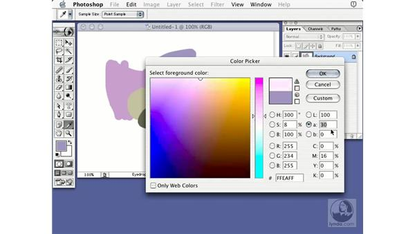 LAB color picker: Learning Photoshop 7