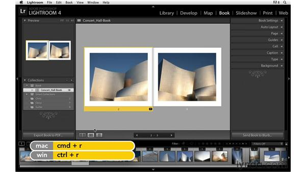 Viewing the book project: Lightroom Power Shortcuts
