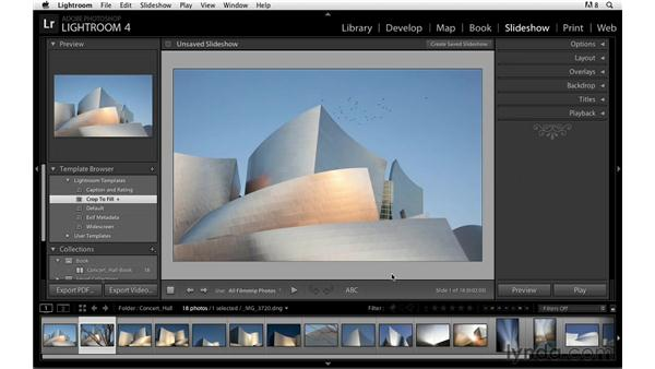 Playing and viewing a slideshow: Lightroom Power Shortcuts