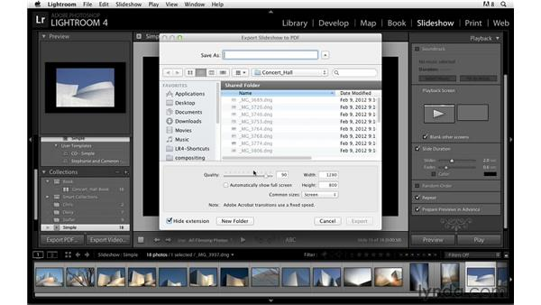 Exporting as PDF, JPEG, and video: Lightroom Power Shortcuts