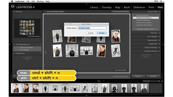 Previewing in a browser and saving your web gallery: Lightroom Power Shortcuts