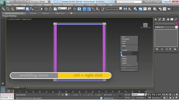 Adding the side panels: Game Prop Creation in 3ds Max