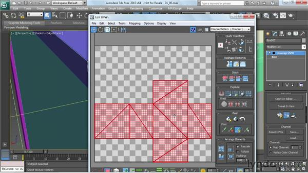 Unwrapping one corner box: Game Prop Creation in 3ds Max