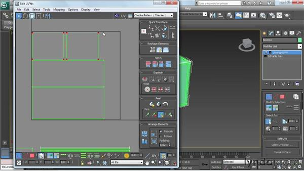 Laying out the UV coordinates: Game Prop Creation in 3ds Max