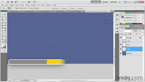 Painting the base coat and logo: Game Prop Creation in 3ds Max