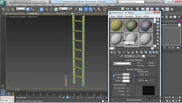 Placing the clean texture: Game Prop Creation in 3ds Max