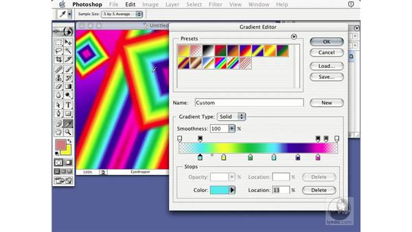 gradient editor: Learning Photoshop 7