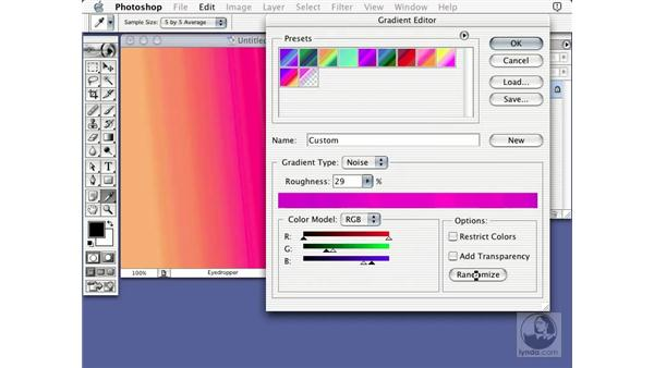 noise gradients: Learning Photoshop 7